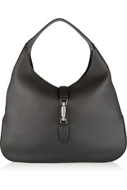 Jackie Soft Hobo textured-leather shoulder bag