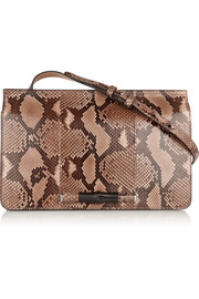 Lady Bamboo small python shoulder bag