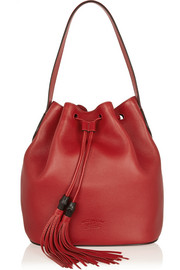 Gucci Lady Tassel textured-leather bucket bag