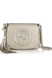 Gucci Soho metallic leather shoulder bag