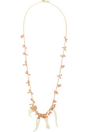 Gold-plated resin necklace