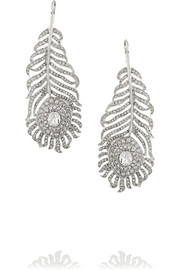 Kenneth Jay Lane Rhodium-plated Swarovski crystal earrings