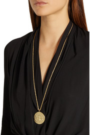Kenneth Jay Lane Gold-plated pendant necklace