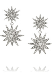 Kenneth Jay Lane Rhodium-tone Swarovski crystal earrings