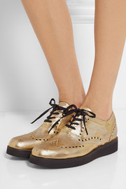 Esquivel Vanas distressed metallic leather brogues