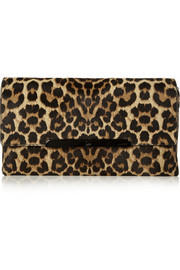 Christian Louboutin Rougissime leopard-print calf hair clutch
