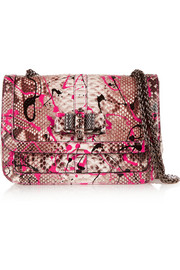 Sweet Charity painted python shoulder bag