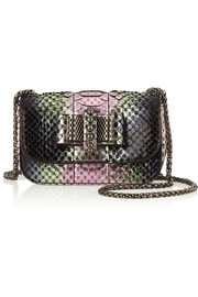 Christian Louboutin Sweety Charity mini metallic python shoulder bag