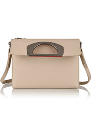 Passage textured-leather shoulder bag