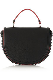 Panettone Messenger spiked textured-leather tote