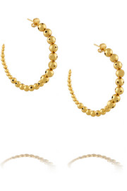 Helios gold-plated hoop earrings