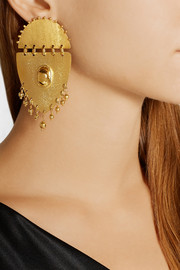 Paula Mendoza Jarama gold-plated earrings