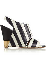 Chloé Striped ayers wedge sandals