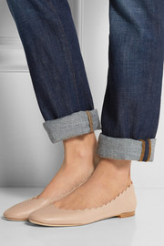 Chloé Lauren leather ballet flats