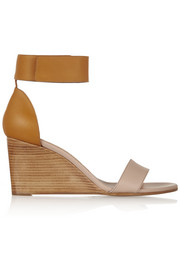 Two-tone leather sandals