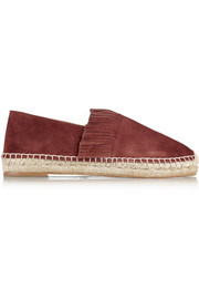 Chloé Fringed suede espadrilles