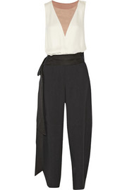 Lanvin Color-block crepe jumpsuit