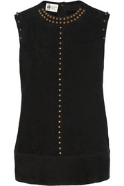 Studded suede top