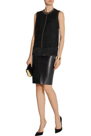 Lanvin Studded suede top