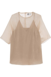 Lanvin Silk-organza top