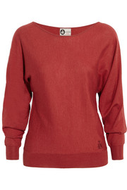 Stretch cashmere and silk-blend sweater