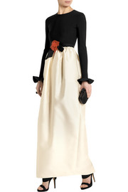 Lanvin Jersey and duchesse-satin gown