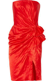 Lanvin Strapless duchesse-satin dress