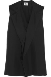 Lanvin Draped silk top