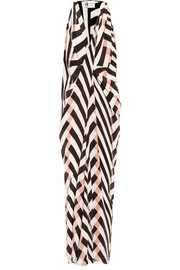 Lanvin Printed silk-crepe maxi dress