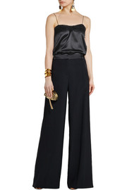 Lanvin Lace-trimmed silk-satin camisole
