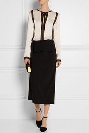 Lanvin Lace-paneled satin top