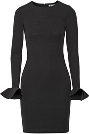 Lanvin Ruffled stretch-jersey mini dress