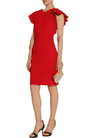 Lanvin Ruched stretch linen-blend dress
