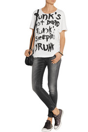 R13 Punk Rosie cotton-blend jersey T-shirt