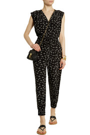 Band of Outsiders Printed silk jumpsuit
