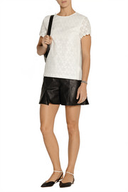 Band of Outsiders Cotton-paneled lace top