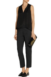 Band of Outsiders Flocked silk-georgette top