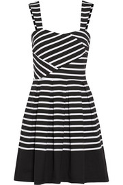 Band of Outsiders Breton striped cotton-jersey mini dress