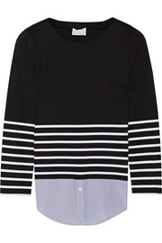 Band of Outsiders Breton striped cotton top