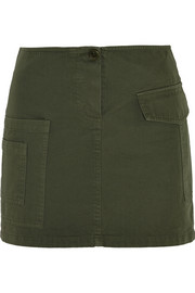 Cotton-twill mini skirt