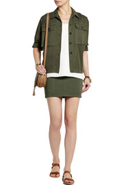 Band of Outsiders Cotton-twill mini skirt