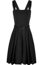 Band of Outsiders Crepe and brushed-satin mini dress
