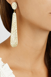Ashley Pittman Malama horn and gold-tone earrings