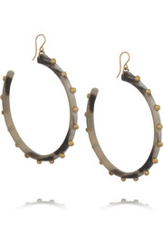 Ashley Pittman Duara horn and gold-tone earrings