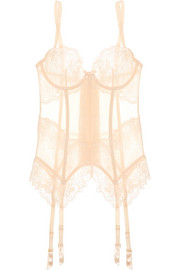 L'Agent by Agent Provocateur Mirabel tulle and lace basque