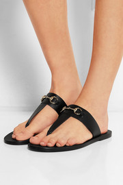 Marcy horsebit-detailed leather sandals