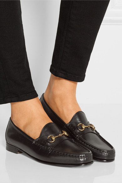 b576f9a75b1 Gucci. Horsebit-detailed leather loafers