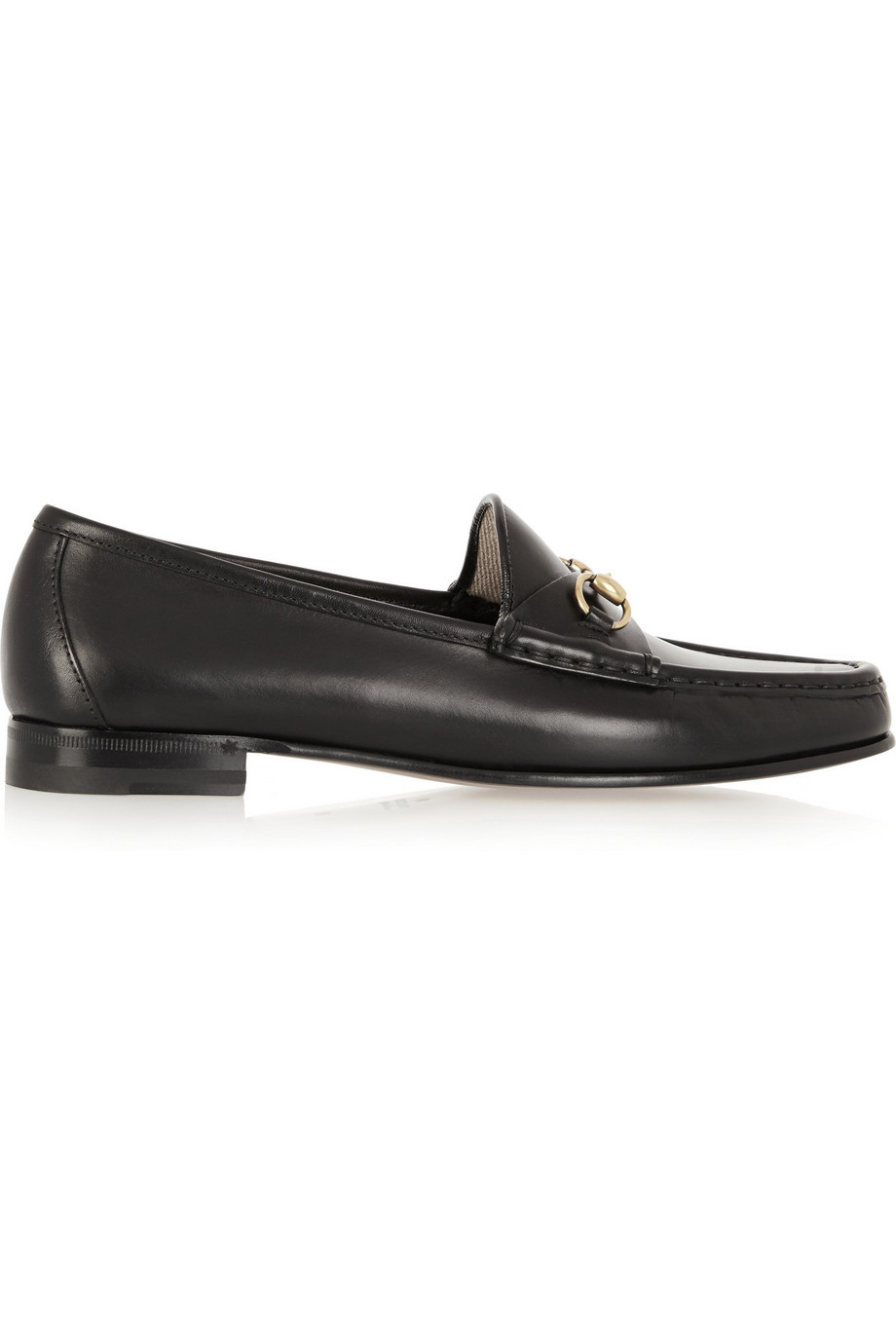 Gucci Horsebit-Detailed Leather Loafers, Black, Women's US Size: 4.5, Size: 35