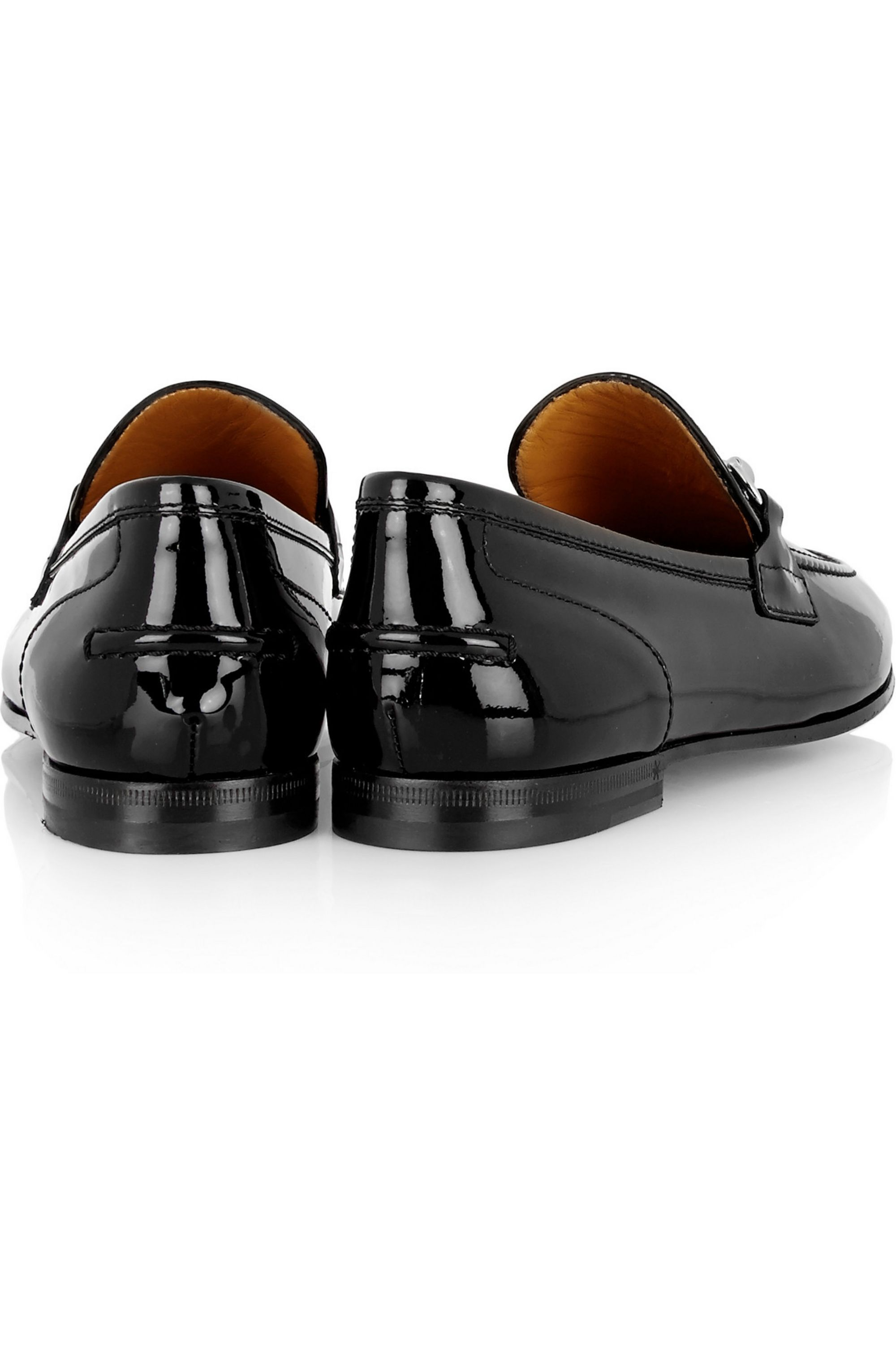 Gucci New Power horsebit-detailed patent-leather loafers