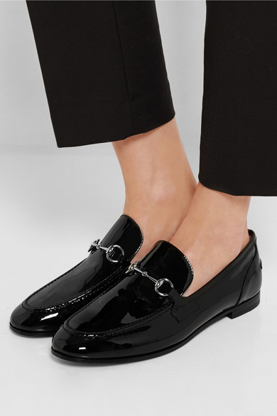 gucci new power horsebit detailed patent leather loafers. Black Bedroom Furniture Sets. Home Design Ideas